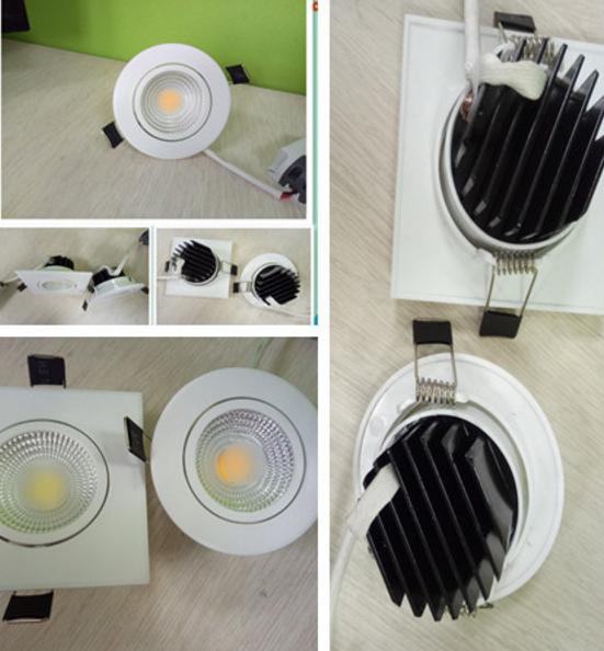 5W 7W 9W COB Round Sqaure Ceiling Light LED Downlight