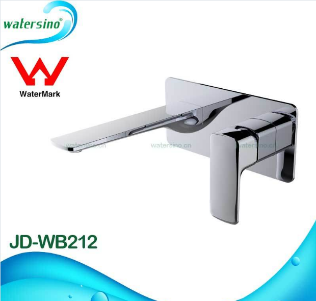 JD-WB212 Brass Wall Mounted Basin Tap with Chrome Electroplating Finish