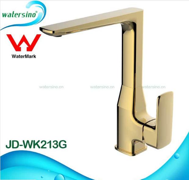 Gold Plated Kitchen Mixer Brass Sink Water Tap