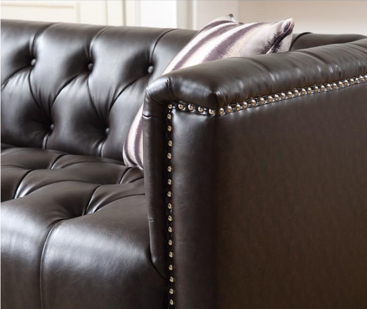 Living Room Furniture Leather Chesterfield Sofa
