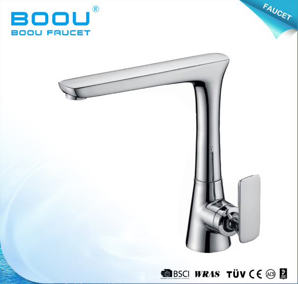 Boou Hot Sale Deck Mounted Square Long Neck Kitchen Faucet