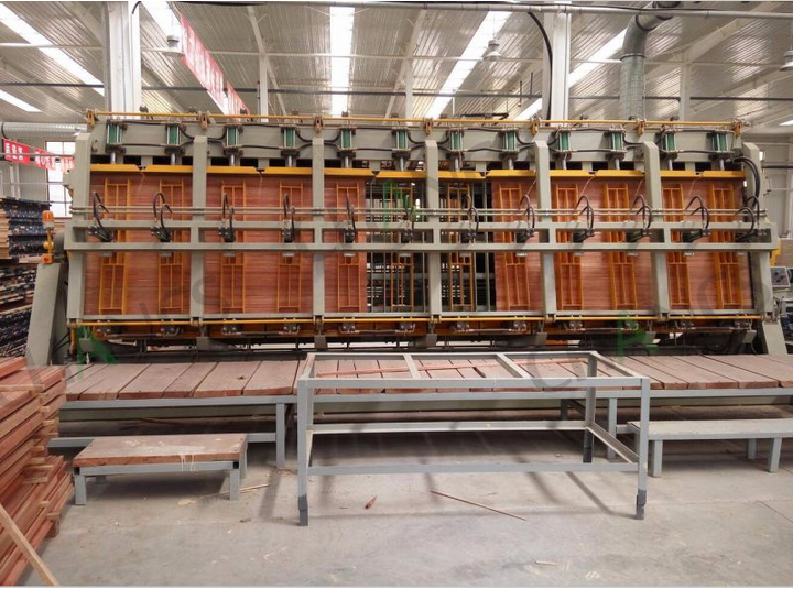 Four Sides Rotary Hydraulic Composer for Solid Wood Panel Laminating