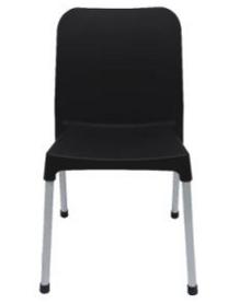 Black Aluminium Metal Plastic Wedding Dining Outdoor Chair