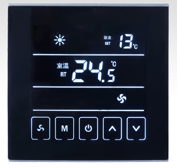 Hot Selling New Style Black Touch Screen Room Thermostat