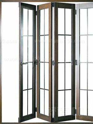 aluminium powder coating interior glass folding door