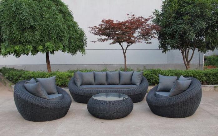 New Design Outdoor Furniture Sofa Set4PCS of Aluminium Rattan Sofa Set