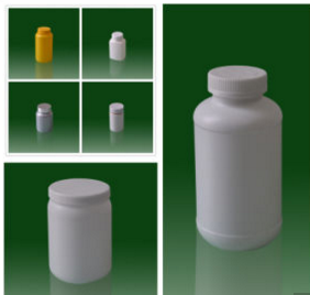 Empty HDPE Plastic Medicine Bottle for Capsule Pill and Protein Powder