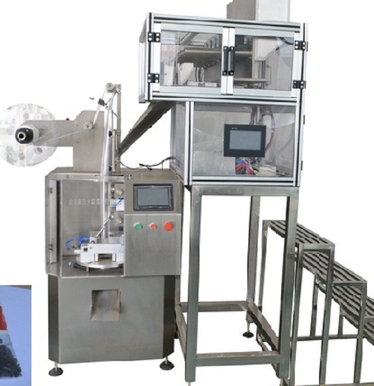 Automatic Triangle Pyramid Nylon Tea Bag Packaging Machinery, Triangle Tea Bag Packing Machine
