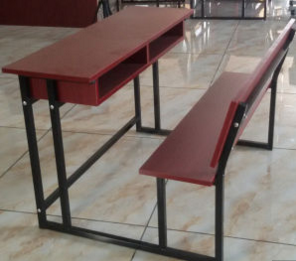 School Furniture, Double Student Desk and Chair