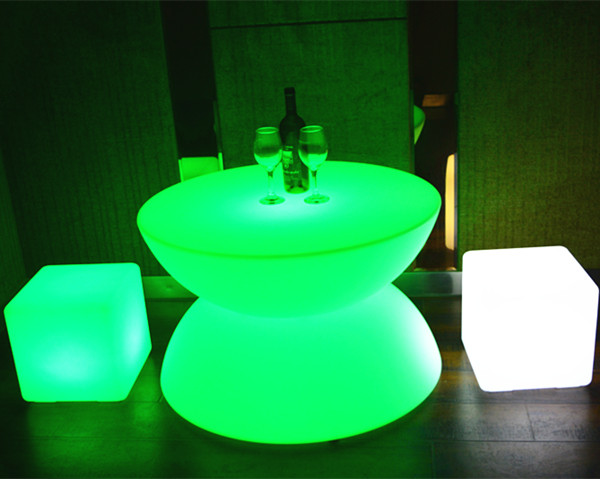 led furniture high top led bar table made in China