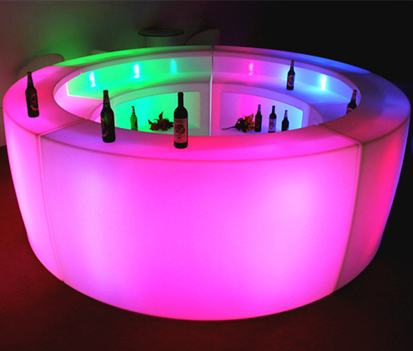 led furniture high top led bar table