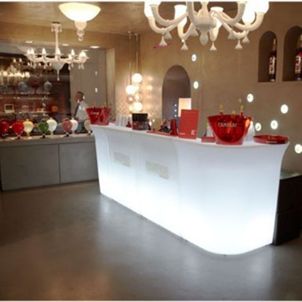 shop counter design remote control led bar counter table and chair lighting furniture illuminated led bar counter