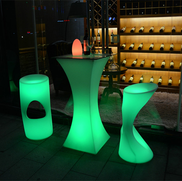 Rechargeable Illuminated led bar counter China factory led furniture