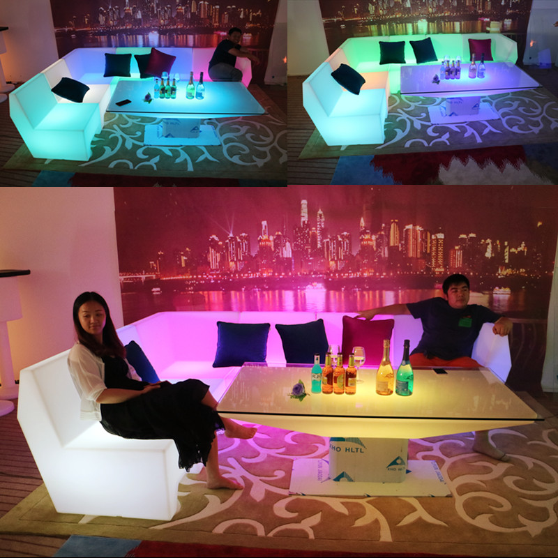 furniture liquidation rechargeable restaurant led table led chairs furniture