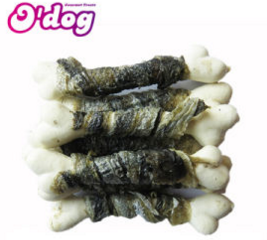 Dry Fishskin Wrap White Calcium Bone Pure Pet Treats Exporter- buying leads