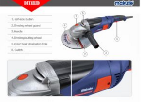 230mm Angle Grinder 2000W Power Tool (AG003)