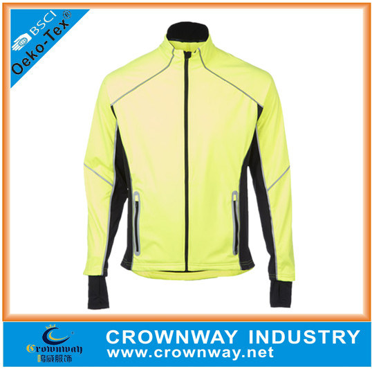 Wholesale Running Wear Long Sleeve Mens Long Sleeve Full Zip Running Jacket