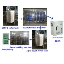 Automatic liquid packing sachet fillig line water treatment water tank pouch filling line water bag filling machine