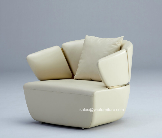 Single Seat Luxury Leather Sofa for Living Room (YS076A1)