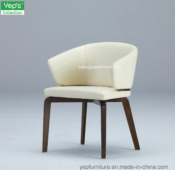 Modern Upholstered Leather Dining Chair Comfortable Armchair (YC541)