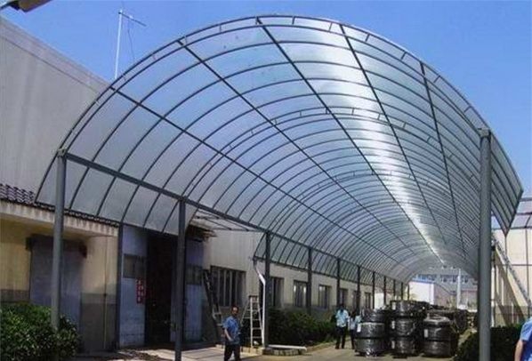 Waterproof Steel Sunshade PC Panel Shed Canopy