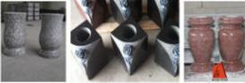 Attractive Design Granite Stone Vase for Cemetery Memorial