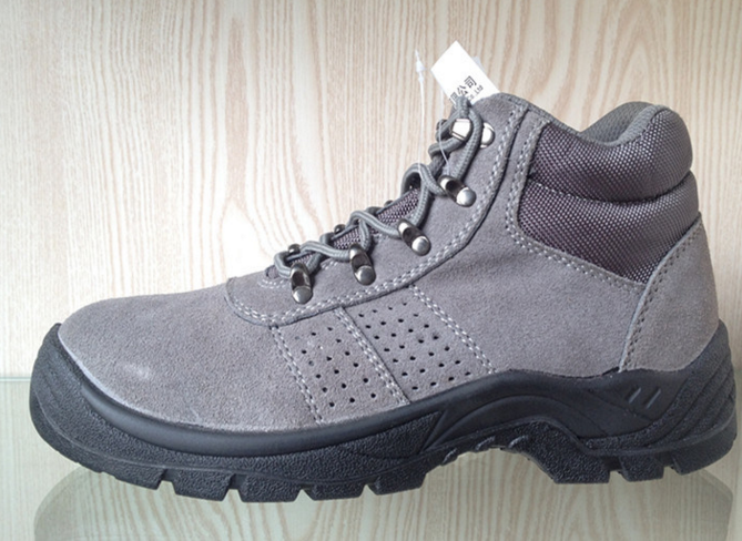Professional Safety Shoes Withgrey Suede (HQ05043)