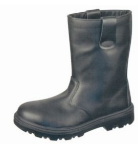 Quality Cow Leather Black Safety Boots
