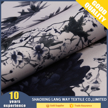 shaoxing textile polyester fabric spun soft 3d printing on garment