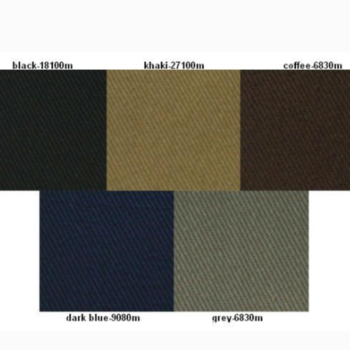 T/C polyester cotton twill fabrics for uniform and workwear