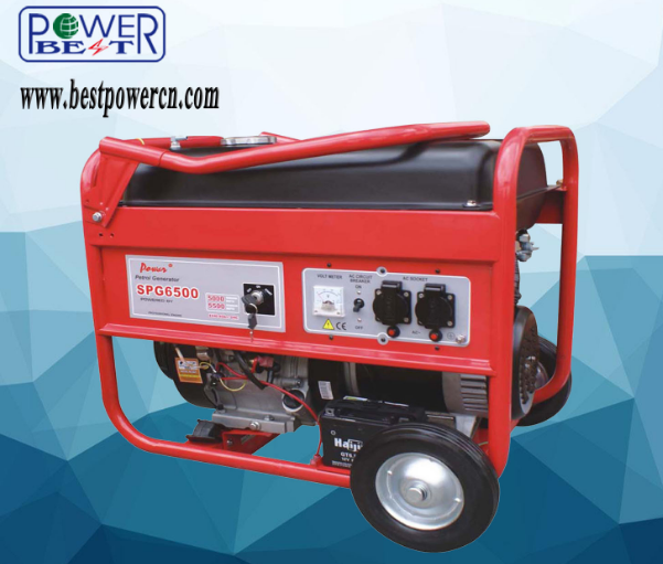Spg6500 5kw Electric AC Single Phase Portable Gasoline Generator