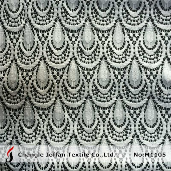Scalloped Lace Fabric White (M1105)