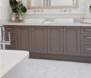 2017 New Design Simple Shaker Panel PVC Bathroom Vanity for Customized