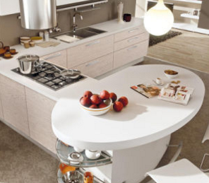Building Material Vinyl Kitchen Cabinet with Island