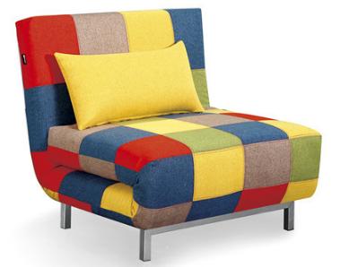 Modern Single Seat Fabric Folded Sofa Bed