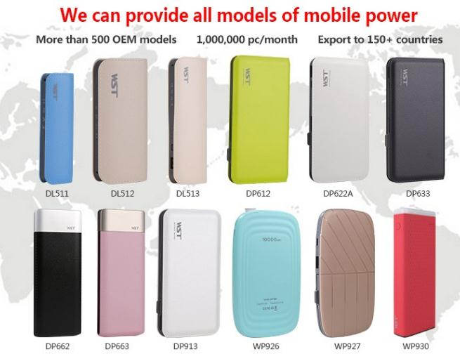 Big Capacity Portable PowerBank Charger, Wholesale 10000mAh mobile Power Bank