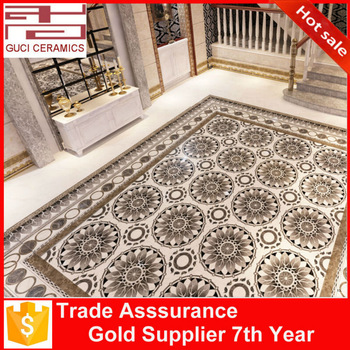 big size 2400x2400mm residential ceramic pictures of carpet tiles for floor