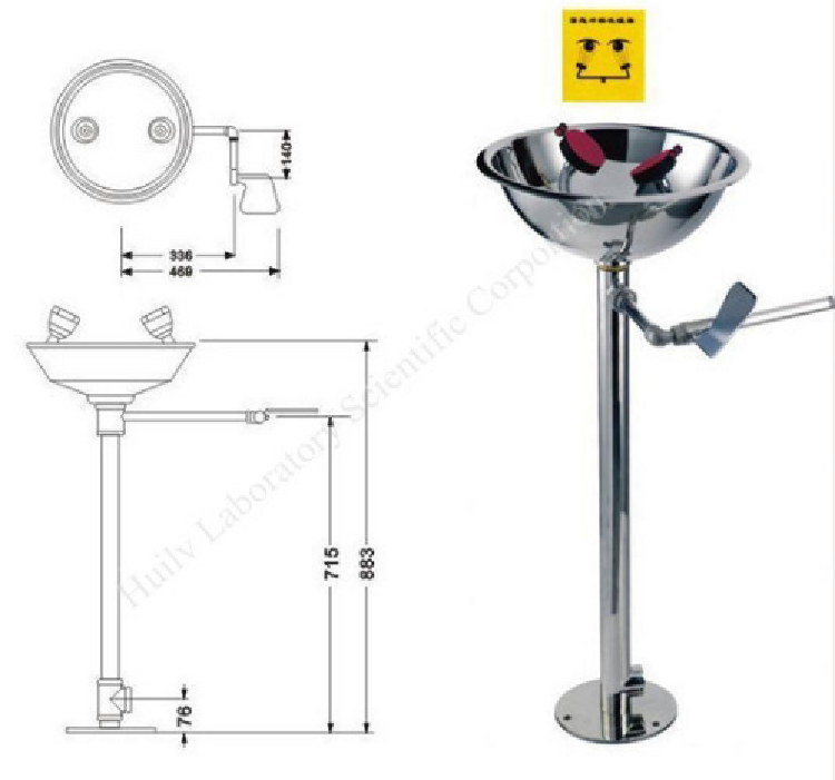 Floor Stand Portable Eyewash Station Emergency Eye Wash