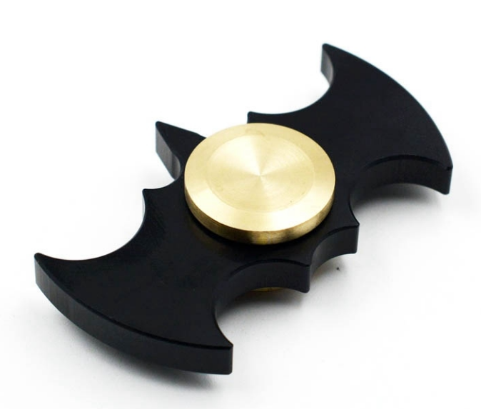 Black Batman Fidget Spinners Aluminum Portable Hand Spinners