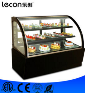 Commercial Free Standing Glass Modern Cake Cooler