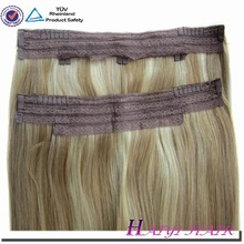 Thick Bottom 120g Remy Double Drawn Indian hair fish wire hair extensions