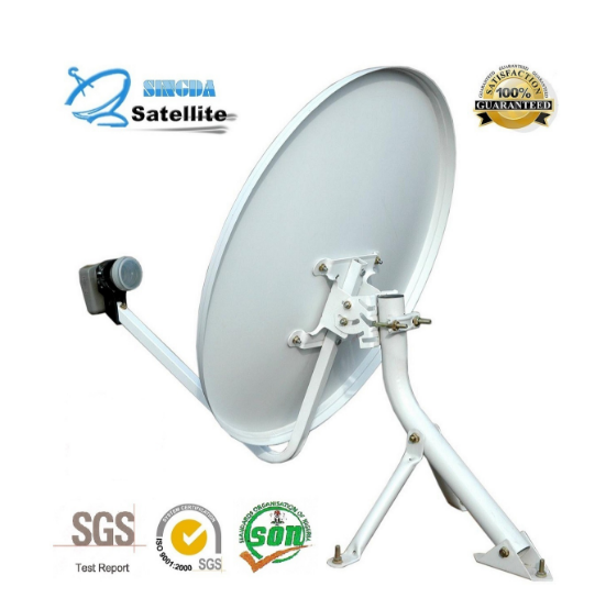 Ku Band satellite dish universal with SGS Certification