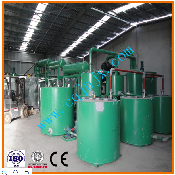 Black Waste Used Engine Oil Recycling Plant Through Vacuum Distillation