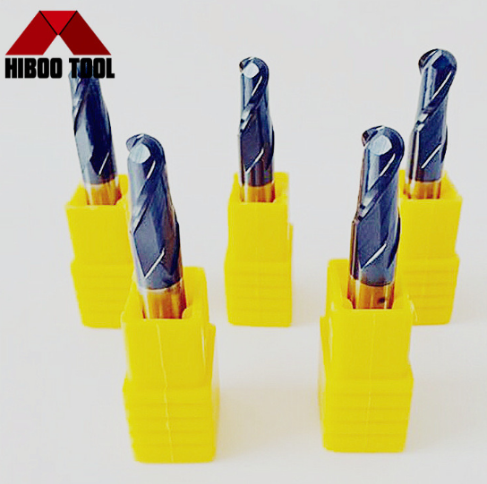 High Performance HRC45 Carbide Ball Nose End Mills