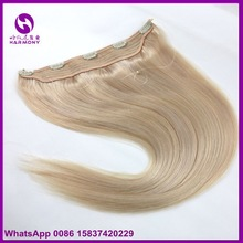 100grams durable indian blonde pure remy hair extension clip on