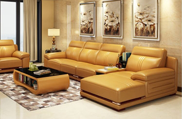 European New Design Top Grain Classic Combination Leather Sofa (HX-SN0632)