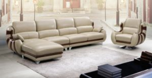 2017 New Design Hot Sell Living Room Leather Sofa (HX-SN021)