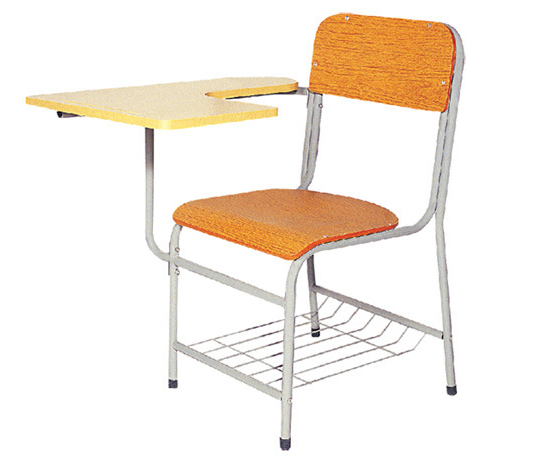 School Classroom Chair with Tablet of Wood Furniture