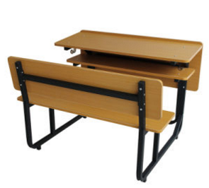Low Price High Quality Wood Student Desk and Chair Set