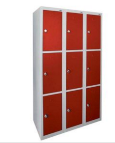 Steel Cabinets with 9 Red Doors, Steel Storage Cabinets (DG-33A)